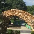 wooden cloud Paris – l'arc pour la paix, am Maison Heinrich Heine, 2018
